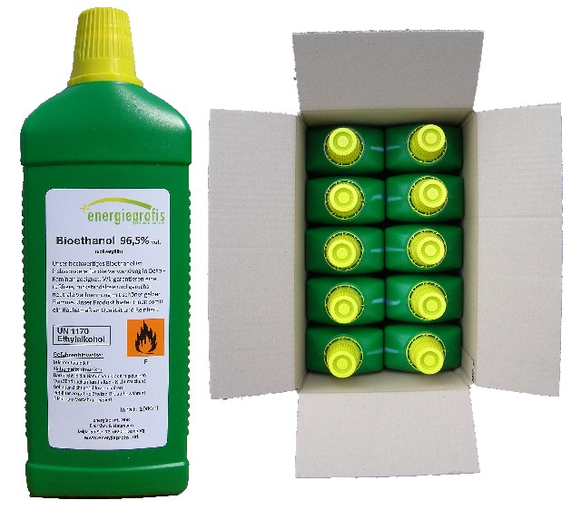 Palivo do biokrbu - Biolíh 96,6% - 10 litrů v litrových lahvích