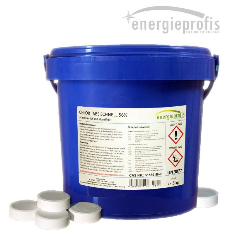 Profienergie.cz - Chlor šok tablety rychlorozpustné - 5kg