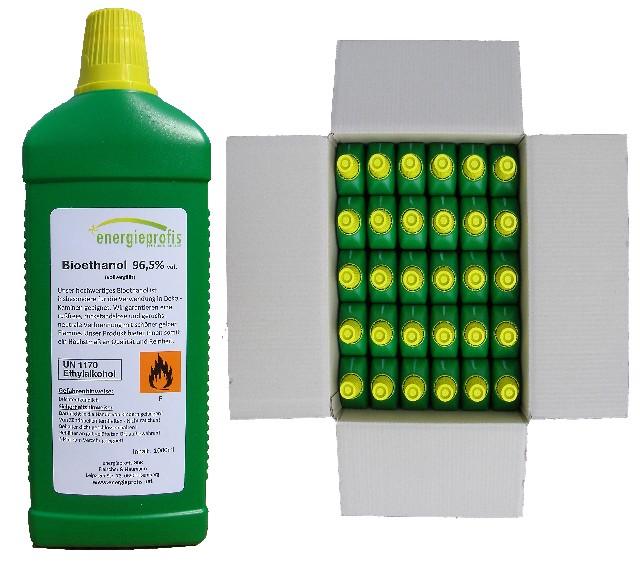 Palivo do biokrbu - Biolíh 96,6% - 30 litrů v litrových lahvích
